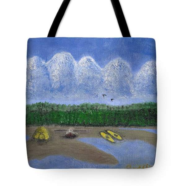Pacific Northwest Camping Tote Bag