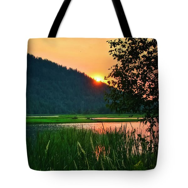 Tote Bag featuring the photograph Pack River Delta Sunset 2 by Albert Seger