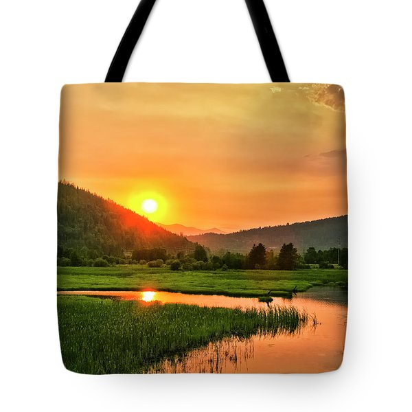 Tote Bag featuring the photograph Pack River Delta Sunset by Albert Seger