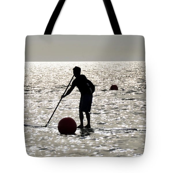 Paddle Boarding Tote Bag by David Lee Thompson