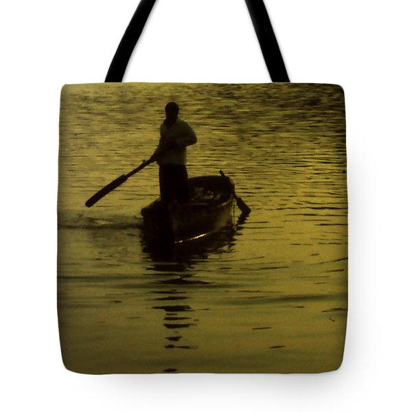 Tote Bag featuring the photograph Paddle Boy by Lydia Holly