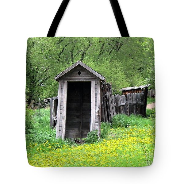 Pail Closet Virginia City Tote Bag by Thomas Woolworth