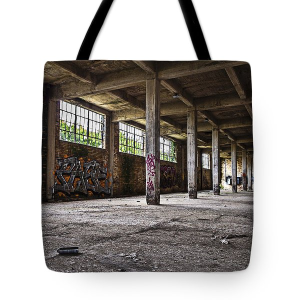 Paint And Concrete Tote Bag by CJ Schmit