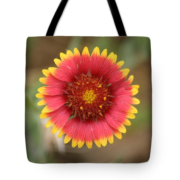 Painted Blanket Flower Tote Bag