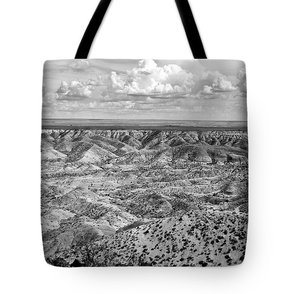 Painted Desert In B And W Tote Bag by Melany Sarafis