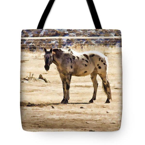 Tote Bag featuring the photograph Painted Horses II by Angelique Olin