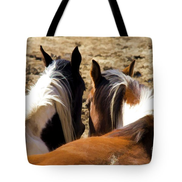 Tote Bag featuring the photograph Painted Horses IIi by Angelique Olin
