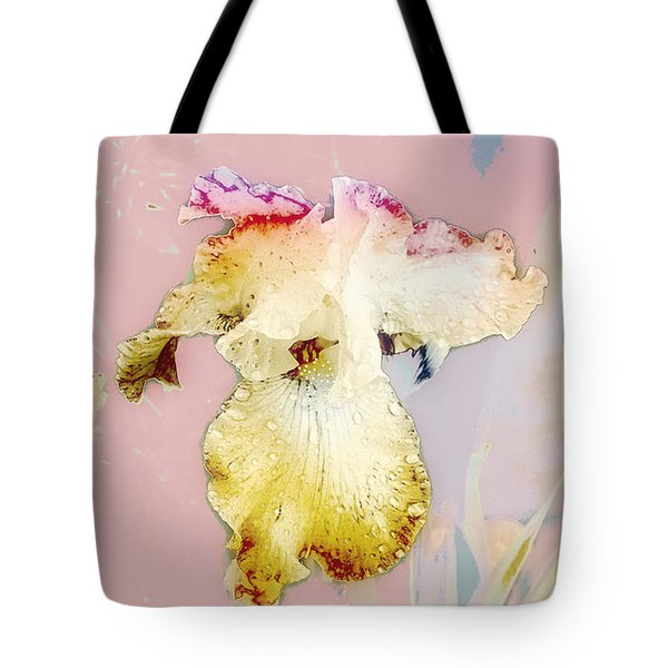 Painted Iris Tote Bag