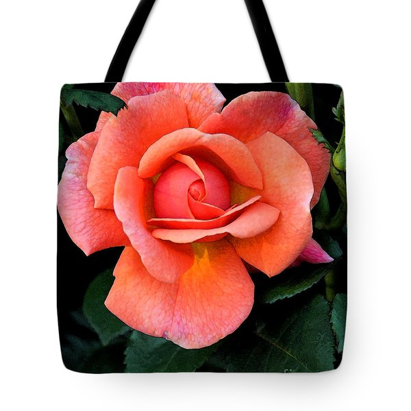 Painted Rose Tote Bag by Cindy Manero