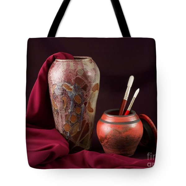 Painterly Pots Tote Bag
