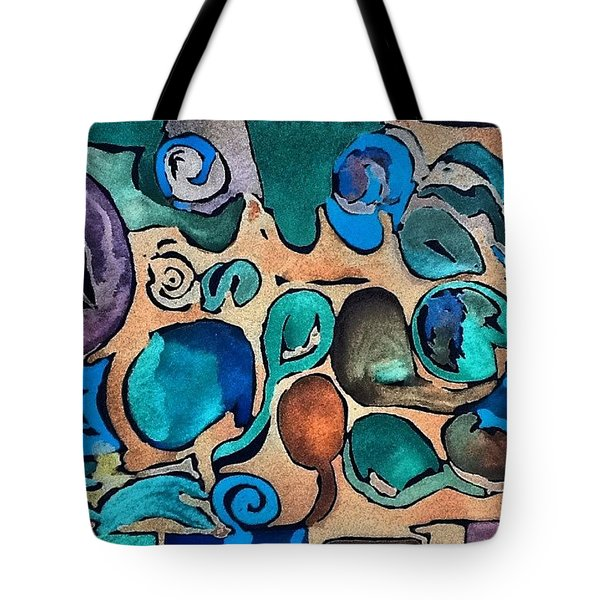 Circles Of Colors.... Tote Bag
