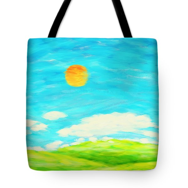 Painting Of Nature In Spring And Summer Tote Bag by Setsiri Silapasuwanchai
