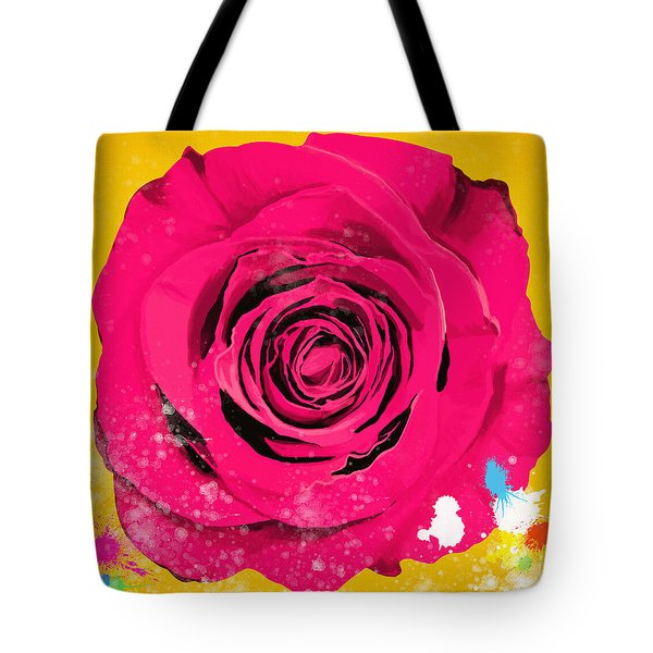 Painting Of Single Rose Tote Bag by Setsiri Silapasuwanchai