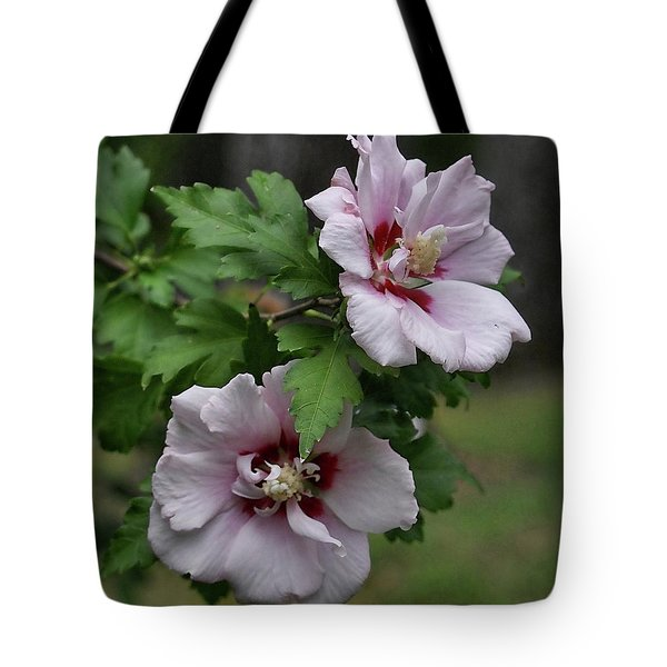 Pair Of Rose Of Sharon Tote Bag by Rick Friedle