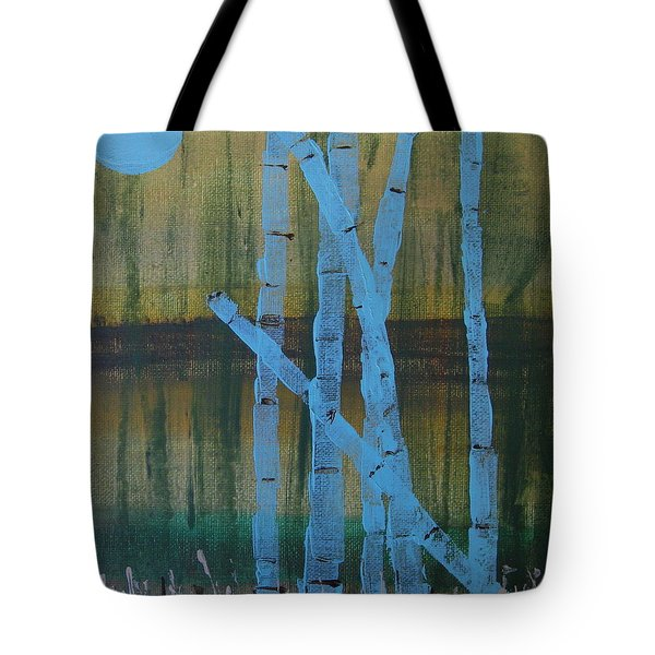 Pale Blue Moon Tote Bag