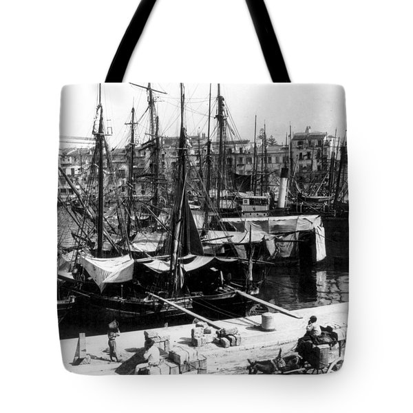 Palermo Sicily - Shipping Scene At The Harbor Tote Bag by International  Images