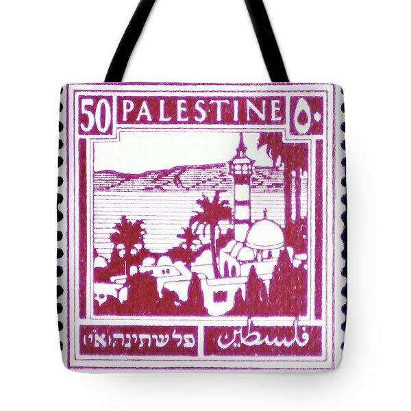Palestine Vintage Postage Stamp Tote Bag