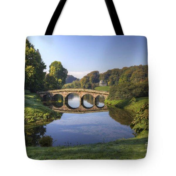 Palladian Bridge At Stourhead. Tote Bag