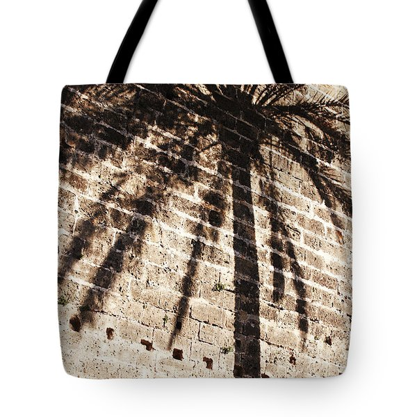 Palm Shadow Tote Bag