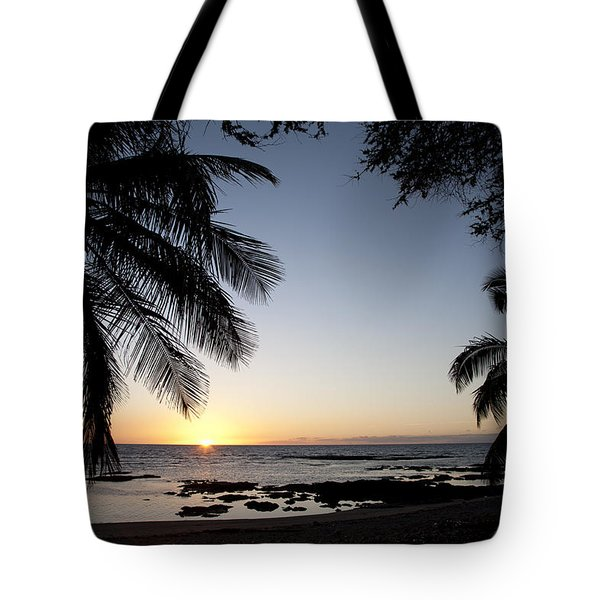 Palm Sunset Tote Bag by Peter French