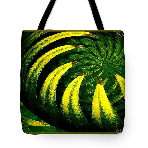 Palm Tree Abstract Tote Bag by Rose Santuci-Sofranko
