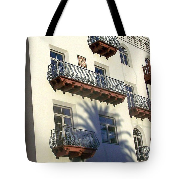 Palm Tree Shadow On The Wall Tote Bag by Patricia Taylor
