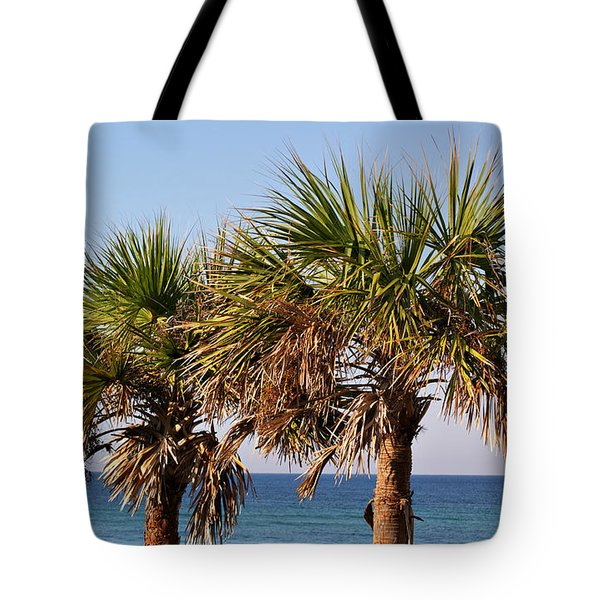 Palm Trees Tote Bag by Sandy Keeton
