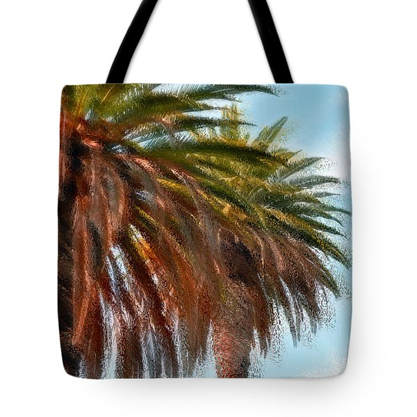 Palms A'glo Tote Bag by Gwyn Newcombe