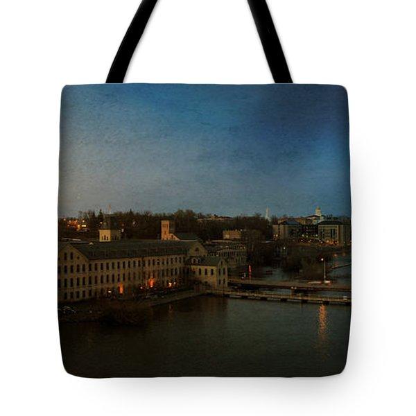 Panoramic Appleton Skyline Tote Bag by Joel Witmeyer