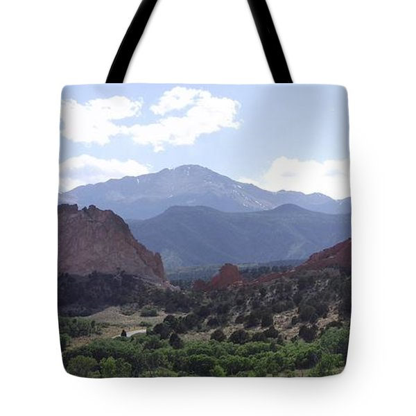 Panoramic Garden Of The Gods Tote Bag