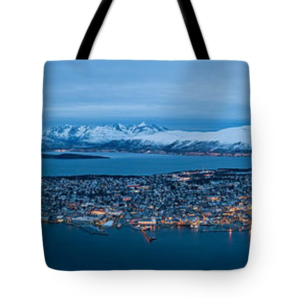 Panoramic View Of Tromso In Norway  Tote Bag by Ulrich Schade