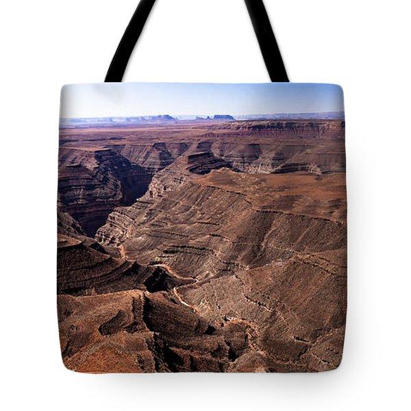 Panormaic View Of Canyonland Tote Bag by Robert Bales