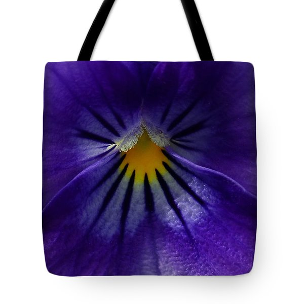 Pansy Abstract Tote Bag by Lisa Phillips