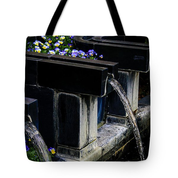 Pansy Fountain Tote Bag