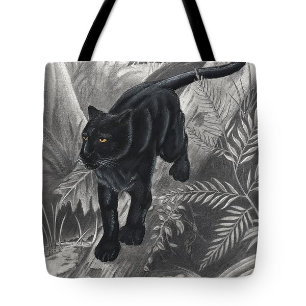 Panther By The Water Tote Bag