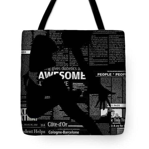 Paper Dance Tote Bag by Naxart Studio
