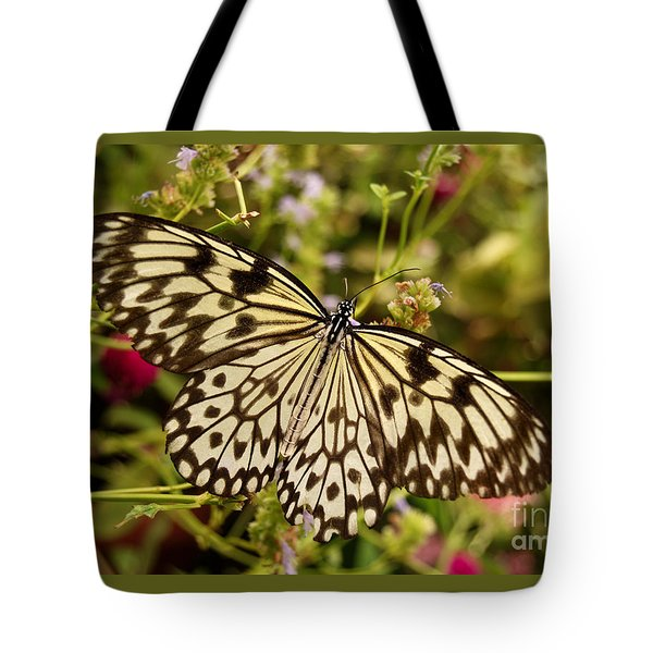 Tote Bag featuring the photograph Paper Kite Butterfly by Eva Kaufman