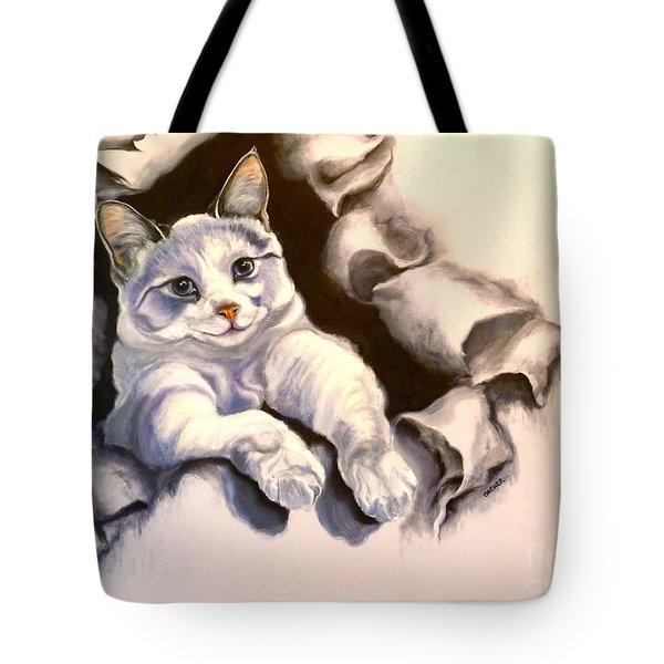 Paper Tiger Tote Bag