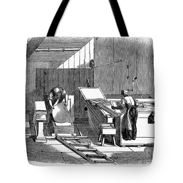 Papermaking, 1833 Tote Bag by Granger