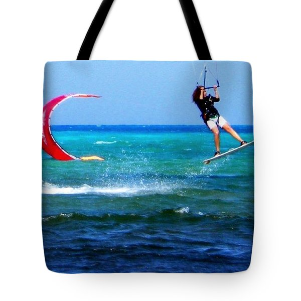 Para Surfing In Cozumel Mexico Tote Bag by Danielle  Parent