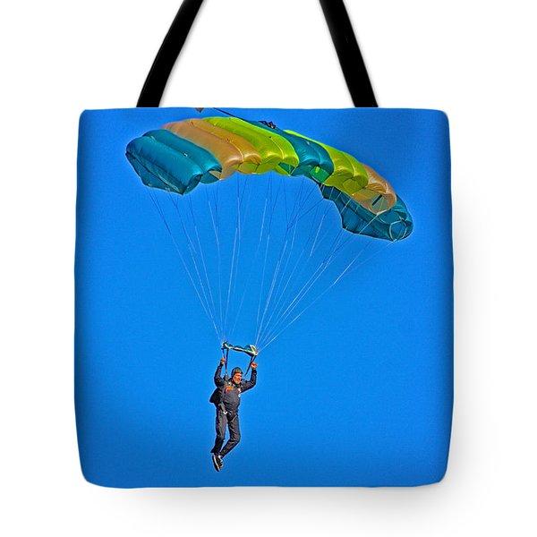 Parachuting Tote Bag by Karol Livote
