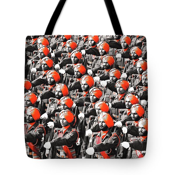 Parade March Indian Army Tote Bag by Sumit Mehndiratta