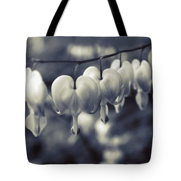 Parade Of Bleeding Hearts In Bw Tote Bag