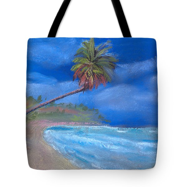 Tote Bag featuring the pastel Paradise In Puerto Rico by Arline Wagner