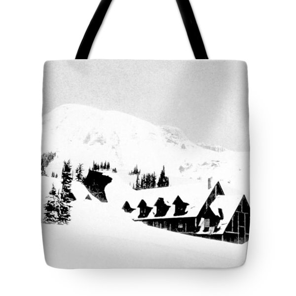 Paradise Inn Buried In Snow, 1917 Tote Bag by Science Source