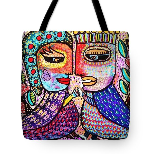 Paradise Lovebirds Tote Bag