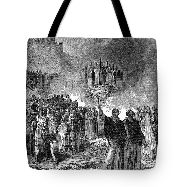 Paris: Burning Of Heretics Tote Bag by Granger