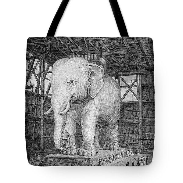 Paris: Elephant Monument Tote Bag by Granger