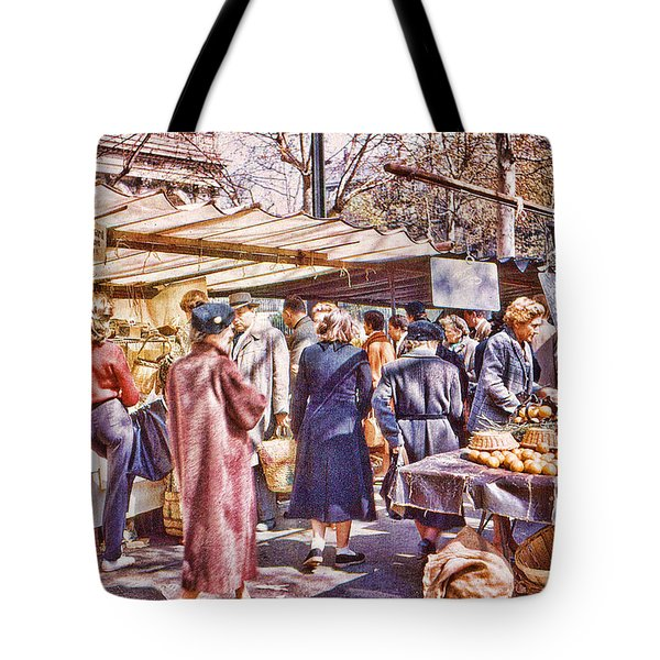 Parisian Market 1954 Tote Bag
