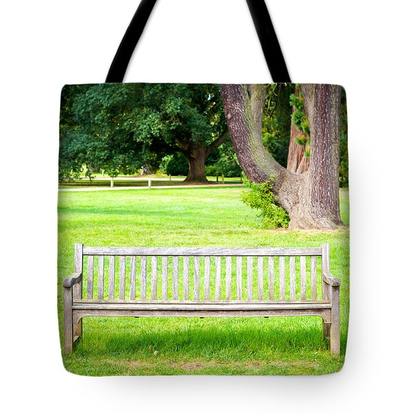 Park Bench Tote Bag by Tom Gowanlock